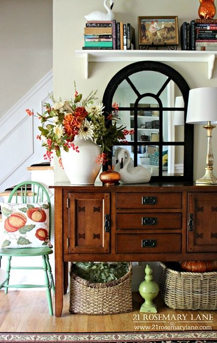 """Today's charming home tour features a fellow blogger! I love her traditional style and use of color throughout each room. Barbara grew up in a little town outside of Philadelphia and moved to New Jersey as an adult. She loves decorating and her friends like to call her """"Martha."""" It's easy to see why when …"""