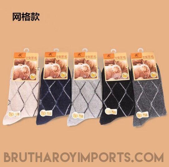 5 pairs/lot High Quality Men's Wool Socks Winter Cashmere Socks Winter Thickening Thermal Socks