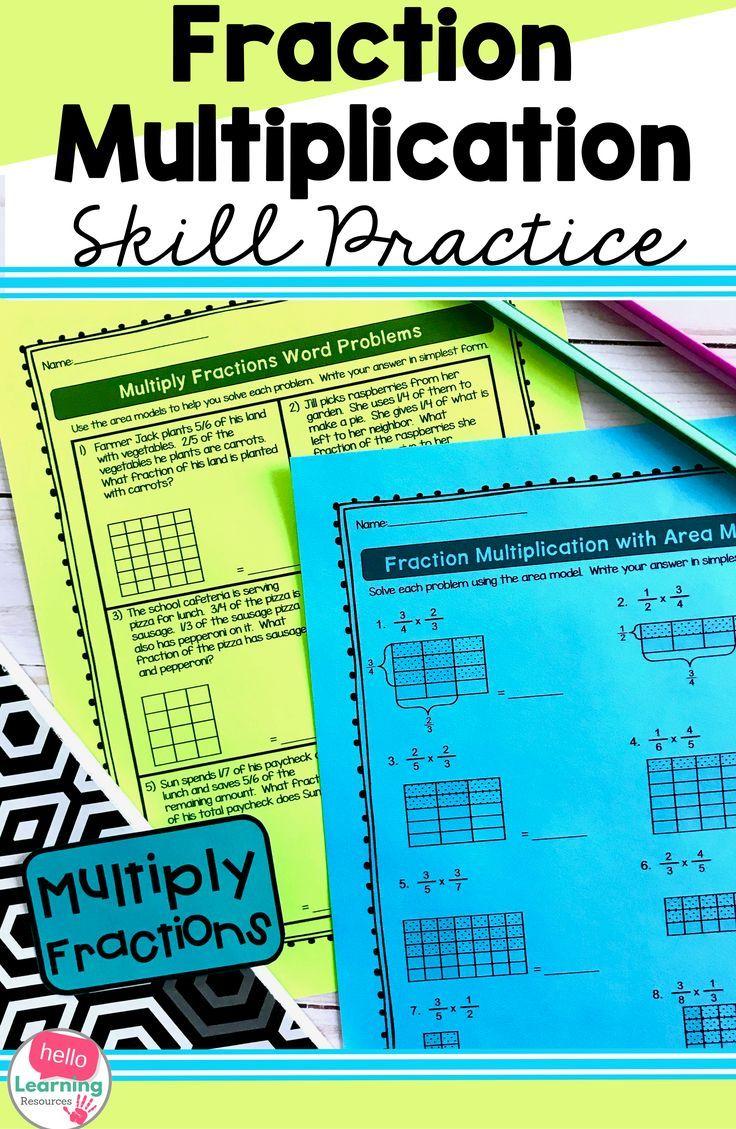 Multiplying Fractions Worksheets Multiplying Fractions Worksheets Fractions Worksheets Fraction Word Problems