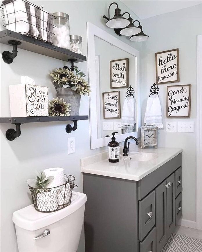 Diy Bathroom Decor Ideas Diybathroom With Images Farmhouse