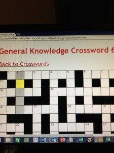 Solve Online Crosswords on the Big Screen