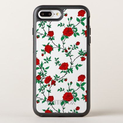 stylized red roses otterbox iphone case zazzle com personalizestylized red roses otterbox symmetry iphone 8 plus 7 plus case personalize cyo diy design unique