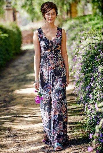INSPIRATION: Paisley Floral Maxi Dress for Tall Women | Long Tall Sally USA. I die for a paisley.