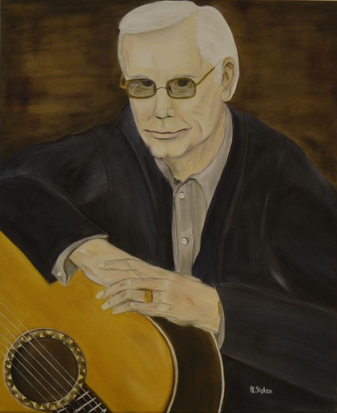 George Jones oil on canvas Anne Karin Stølan