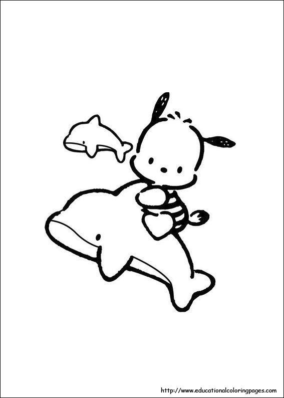 Coloring Pages Hello Kitty Dolphin : Best coloring pages images on pinterest