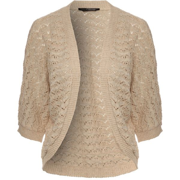 Jane Norman Crochet Batwing Cardigan ($20) ❤ liked on Polyvore featuring tops, cardigans, jackets, outerwear, sweaters, cream, cream crochet top, brown cami top, brown cami and brown cardigan