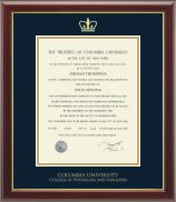 Columbia University Gold Embossed Diploma Frame in Gallery - Item #237551-CSU from Columbia University Book Store