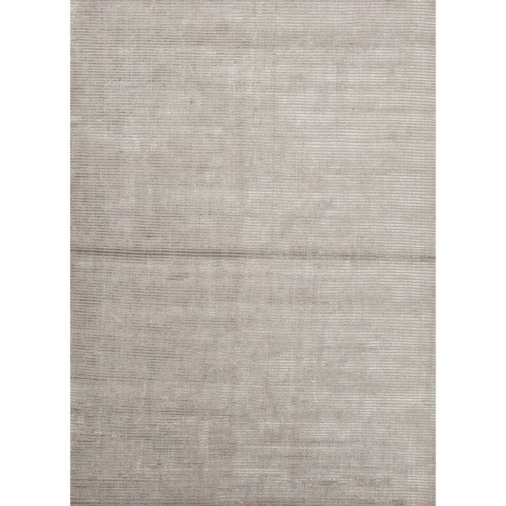 Hand Loomed Solid Grey Wool/ Silk Rug X