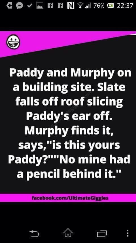 Paddy and murphy on a building site - joke - http://jokideo.com/paddy-and-murphy-on-a-building-site-joke/