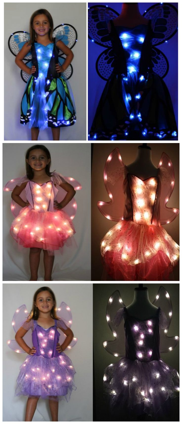 These LED fairy Halloween costumes for kids are awesome! So easy to be seen at night! Get them at www.outofsightlights.com (sponsored)
