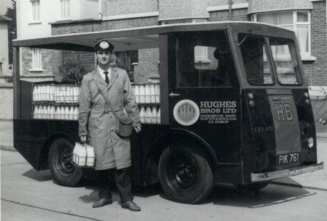 Hughes Brothers milkman delivered daily to the house
