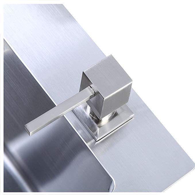 304 Stainless Steel Kitchen Sink Countertop Soap Dispenser Built