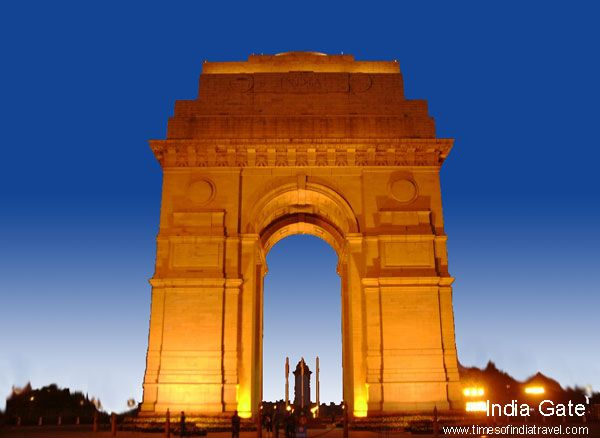 India Gate a memorial decorated with the names of the ...