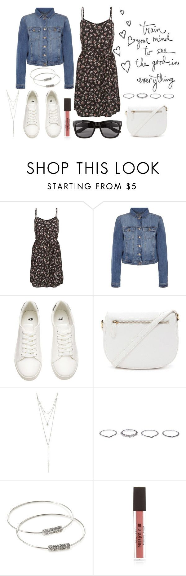 """""""Cute & Chic Summer Look for the Pear Body Shape"""" by ladylikecharm ❤ liked on Polyvore featuring New Look, H&M, Forever 21, ALDO and Vero Moda"""