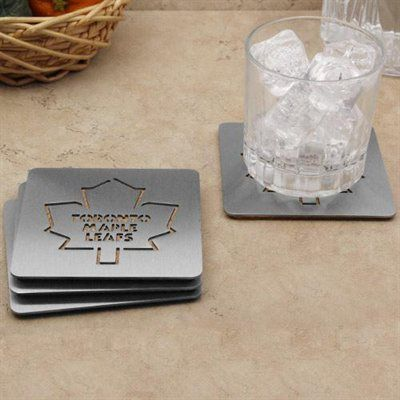 Toronto Maple Leafs 4-Pack Boasters Stainless Steel Coasters