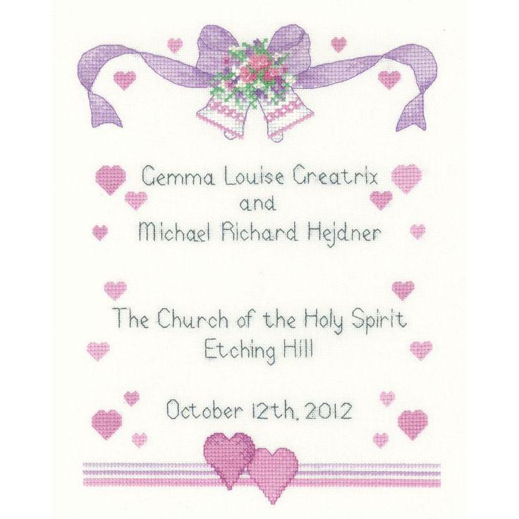 129 besten Cross Stitch - Wedding Bilder auf Pinterest | Stickerei ...