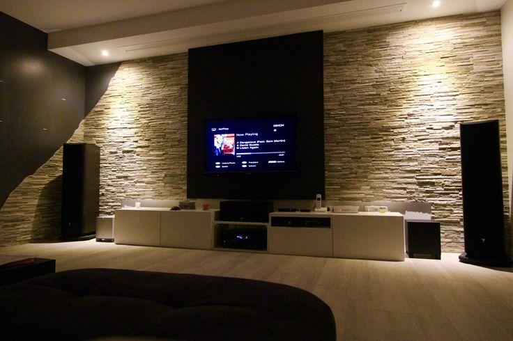 die besten 25 tv wand verblendsteine ideen auf pinterest. Black Bedroom Furniture Sets. Home Design Ideas