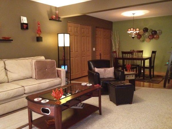 Toronto Small Condo Living Room With Desk