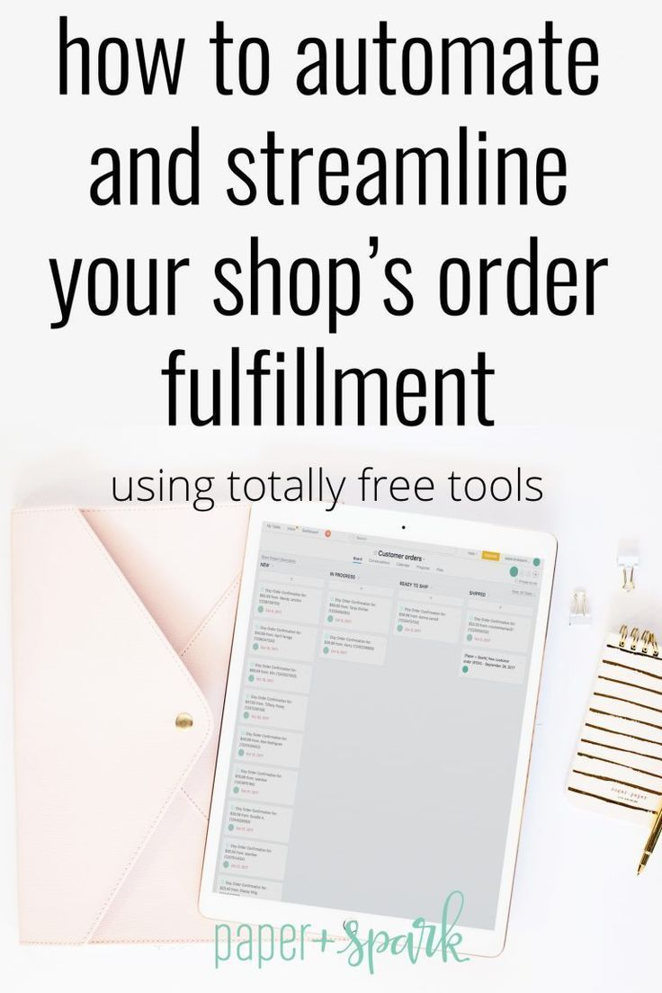 How To Automate Streamline Your Order Fulfillment Paper Spark Etsy Business Starting An Etsy Business Business Systems