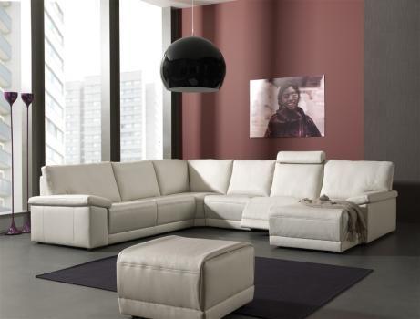 Lederen salon met relax verkrijgbaar bij Meubelen Larridon #relax #salon #meubelenlarridon