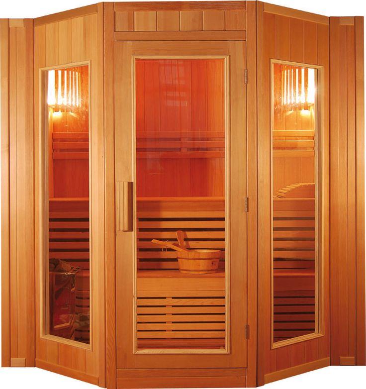 Sauna finlandese a 4 posti modello Ten 174 x 198 e alta 200 cm