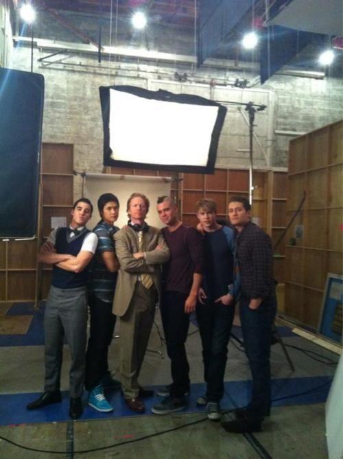 Darren Criss, Harry Shum Jr, Mark Salling, Chord Overstreet, Matthew Morrison Anderson, Mike Chang, Puck, Sam, Will, Glee