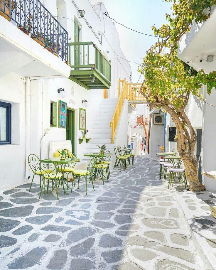 Street on Mykonos, Greece