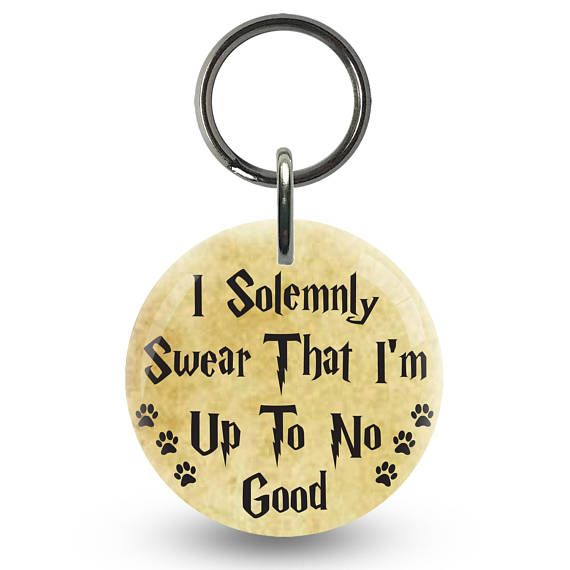 I Solemnly Swear Harry Potter Inspired Dog Id Tag Pet Id Tags