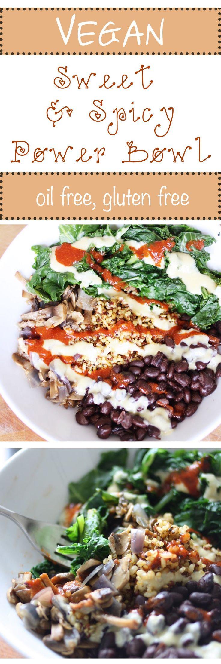 Sweet and Spicy Power Bowl | www.veggiesdontbite.com | #vegan #plantbased #glutenfree #oilfree