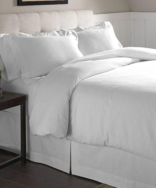 White Flannel Duvet Cover Set