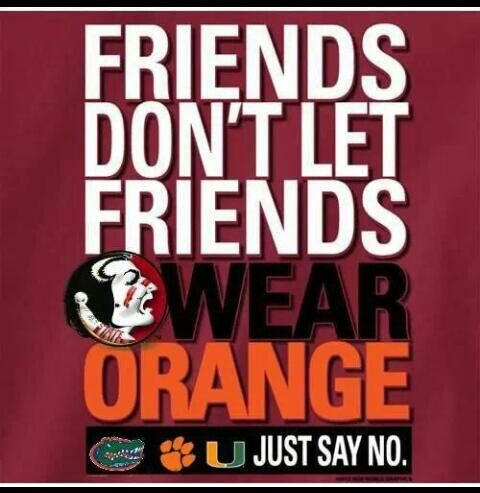 It's true! Our biggest rivals all have orange as one of their colors.
