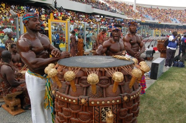 We are not starving :-) Ghana drummers