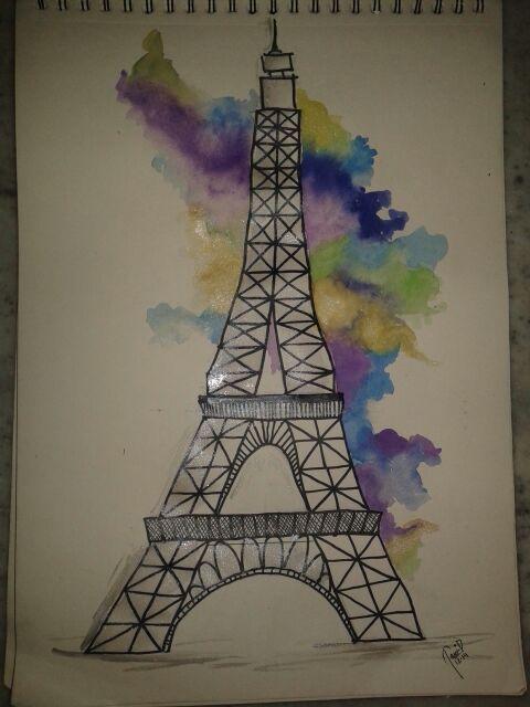 eiffel tower....!!!simple easy n awesome