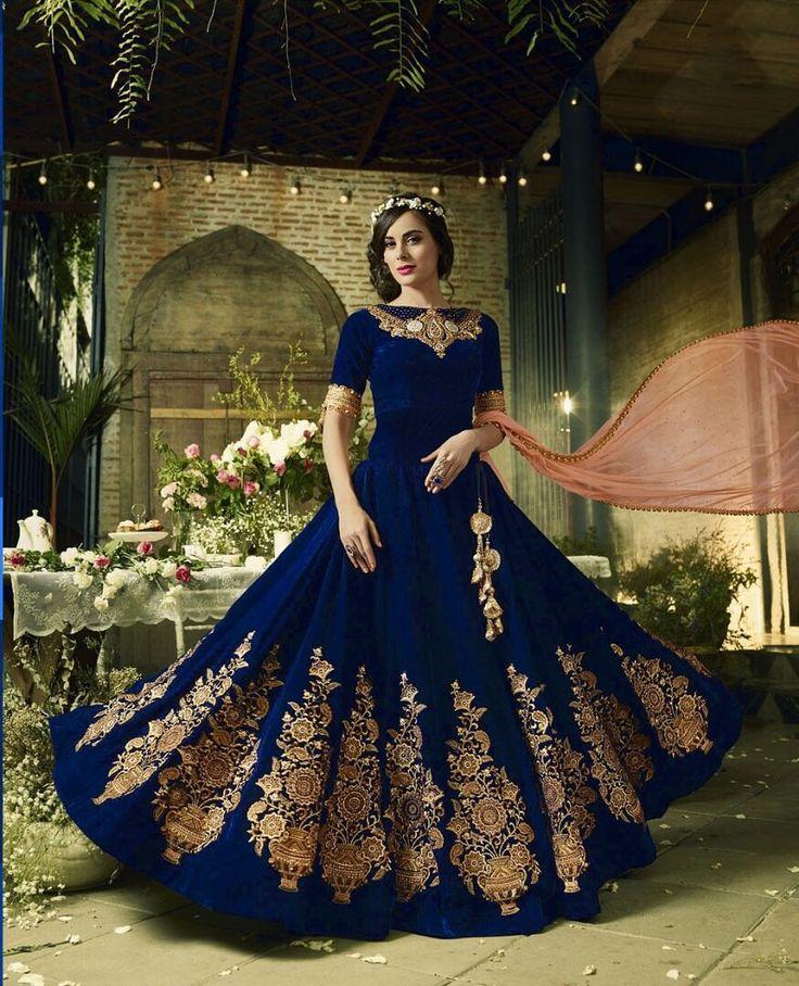 #embroideredwork #anarkalisuit #salwarsuit #designersuit #stylishsuit #weddingwear #partywear #velvetsuit #laceborderwork