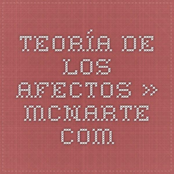 Teoría de los afectos. » MCNArte.com