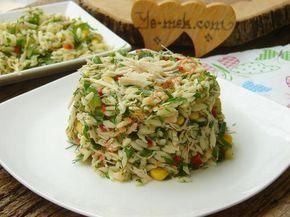 Tavuklu Arpa Şehriye Salatası Resimli Tarifi - Yemek Tarifleri