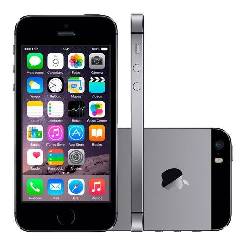 """iPhone 5s 16GB Preto - Apple - iOS 8 - 4G - Wi-Fi - Tela 4"""" - Câmera de 8MP - Desbloqueado Compre em oferta por R$ 899.00 no Saldão da Informática disponível em até 6x de R$149,83. Por apenas 899.00"""