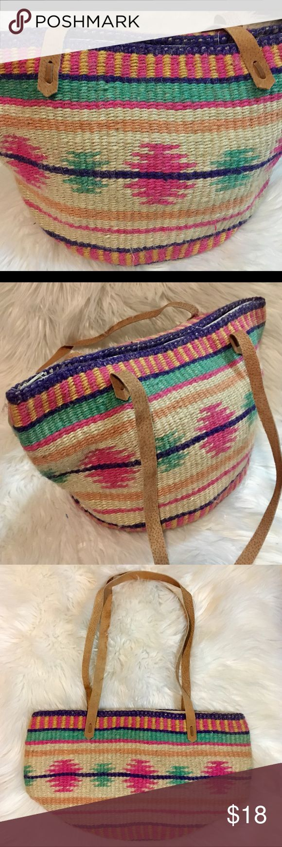 Cute Boho tote bag NWOT Aztec print woven tote bag. New never used perfect condition. Bags