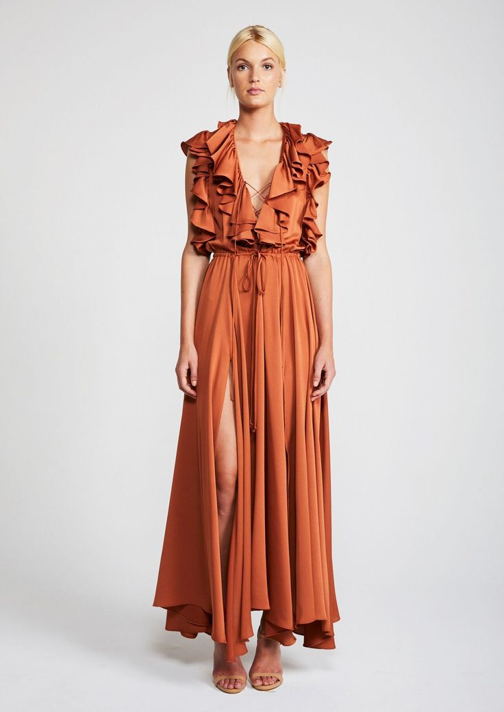 Shona Joy - Eclipse Ruffle Maxi Dress