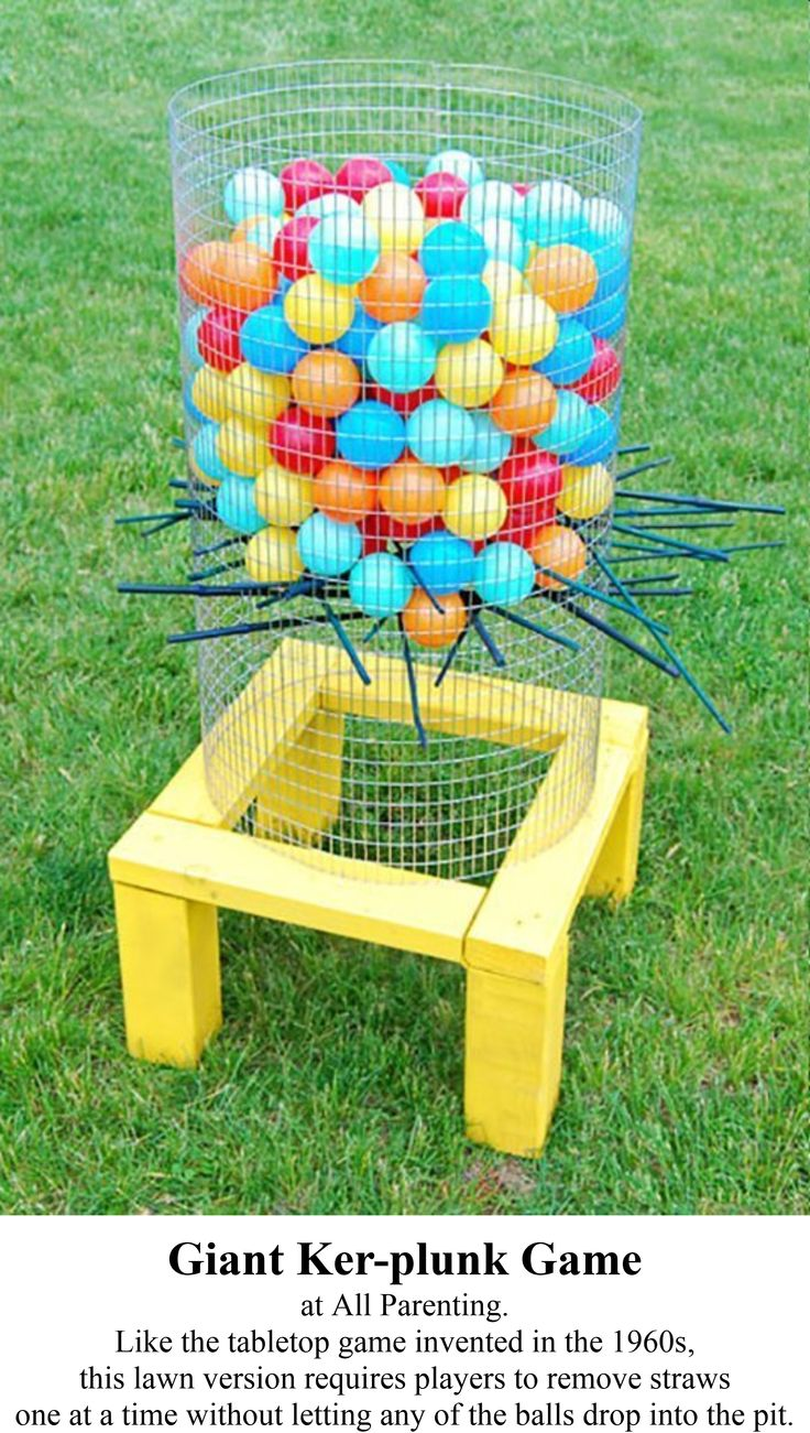 Love this idea ..... what a great game .... the little ones would love to throw the balls in the basket too!