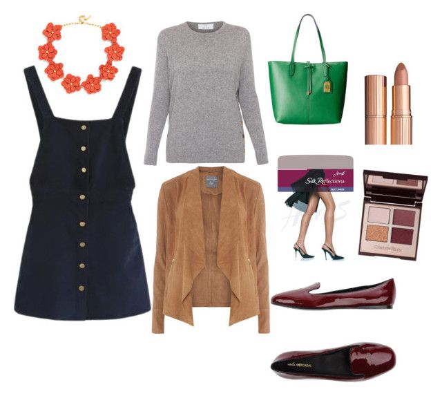 Back to grad school -3, Entrepreneur casual work outfit by sarajaradat on Polyvore featuring polyvore fashion style WithChic Allude Dorothy Perkins Hanes Atelier Mercadal Ralph Lauren BaubleBar Charlotte Tilbury clothing