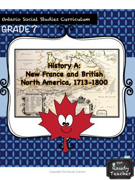 Are you an Ontario teacher who has to teach Grade 7 History?  Are you in need of quality resources that covers the curriculum? WELL LOOK NO FURTHER!This is a 16 lesson unit that covers:Grade 7: New France and British North America 1713-1800It is aligned with the Ontario Social Studies Curriculum 2013.It focuses on Canadian history from 1713 - 1800, as well as the development of the Canadian identity!This comprehensive unit has lessons for whole group, small group and individual.