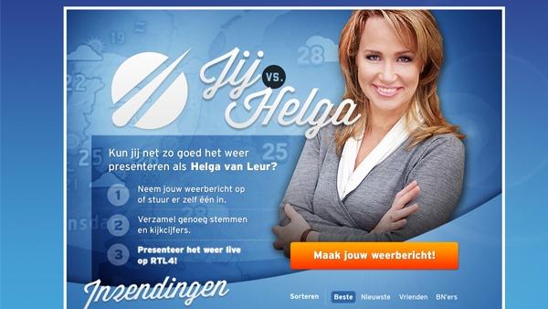 Buienradar Jij vs. Helga Facebook app