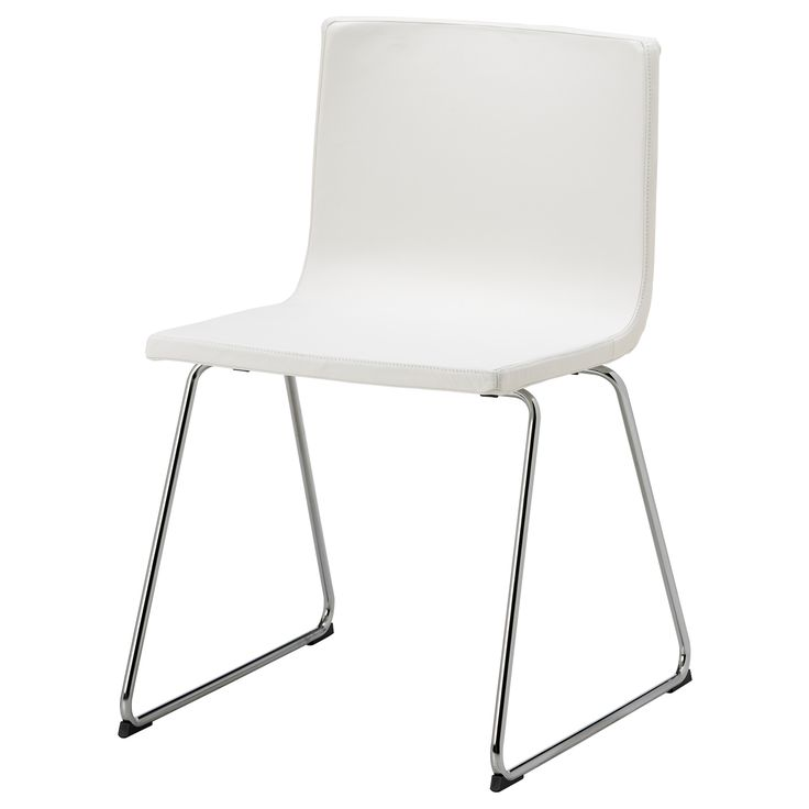 dining table chairs **  BERNHARD Chair - chrome plated/Kavat white - IKEA - dream dining table chairs - one day!