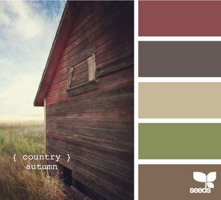 country autumn - these colors would go well with the existing bathroom countertop and floor, and with the wood wall idea