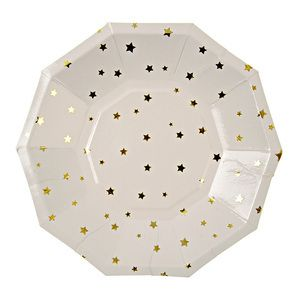 Urbanic Paper Boutique — Gold Stars Party Plates