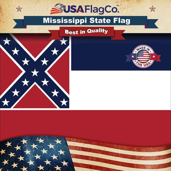 Mississippi State Flag Mississippi Flag State Flags Flag