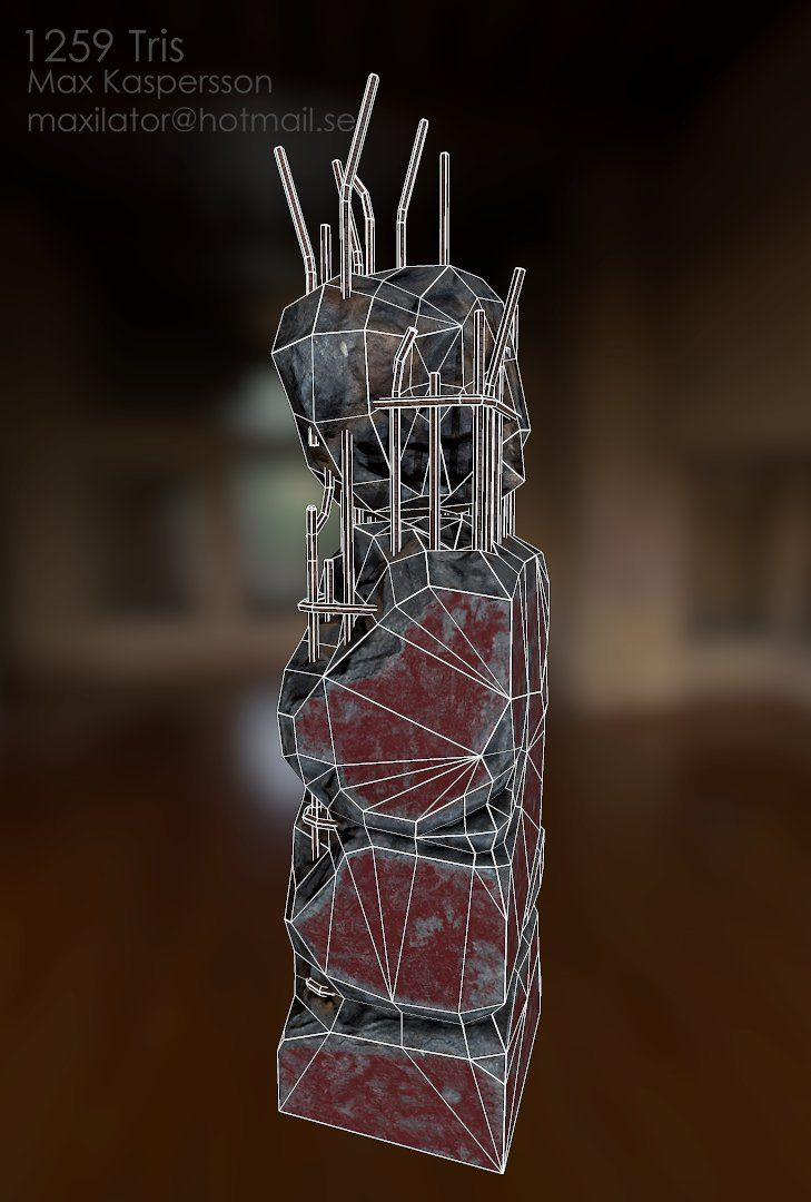 ArtStation - Reinforced Concrete Pillar, Max Kaspersson