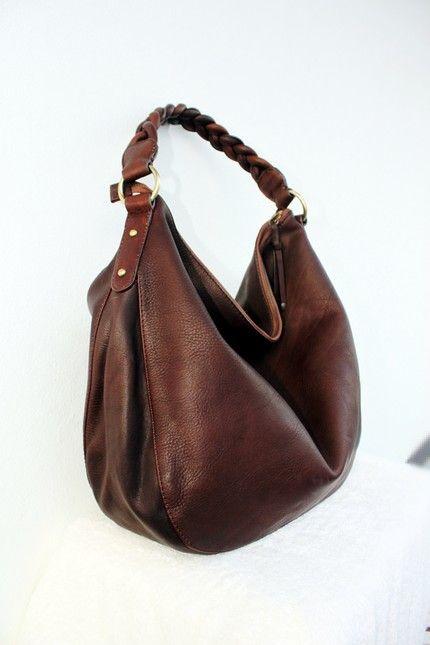 Dark Chocolate leather Bag