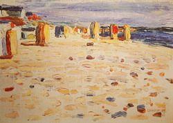 Painter Wassily Kandinsky. Beach Baskets In Holland. 1904